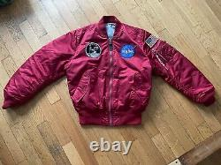 Alpha Industries NASA MA-1 Bomber Jacket red Size medium New and unworn