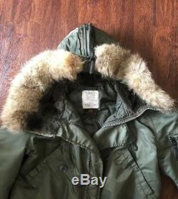 Alpha Industries N-2B Flight Jacket Genuine Fox Fur