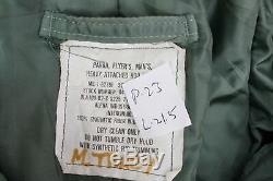 Alpha Industries N-2B Men's Flyers Parka Hooded Jacket Green Size Medium