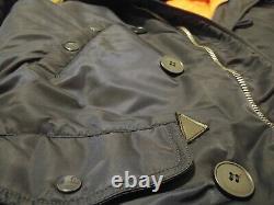 Alpha Industries N-3B Parka Navy Blue/Orange Liner Size Medium Slim Fit