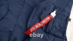 Alpha Industries Shell Fishtail Parka Men Jacket Blue MJS49000C1 Medium