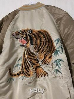 Alpha Industries Tiger Souvenir Vintage White/Sand/Mauve Medium Jacket NEW