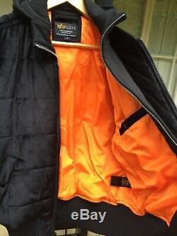 Alpha Industries Two-tone Velvet Bomber Jacket Black Medium