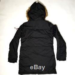 Alpha Industries Type N-3B Altitude Parka Jacket SZ Womens Cold Weather Black