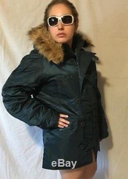 Alpha Industries Unisex Blue Explorer Parka Jacket Size Medium New