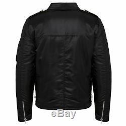 Alpha Industries Unisex Outlaw Biker Jacket Slim Fit Black Nylon XS, S, M, L, XL