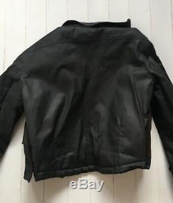 Alpha Industries Waxed Cotton Biker Jacket Size Medium Black Very Rare