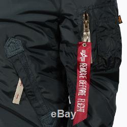 Alpha Industries Women's Jacket Bomber Jacket Injector III Get fur Jacket Blue