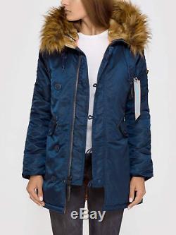 Alpha Industries Womens N3B VF59 Cold Weather Parker Hood Winter Jacket