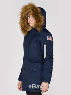 Alpha Industries Womens Ultra Warm Polar Hood Winter Jacket