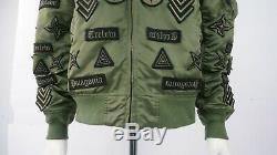 Alpha Industries X Marcelo Burlon Khaki Badge Bomber Jacket Size M