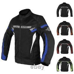 Alpha Mens Mesh Motorcycle Jacket Motorbike Biker Ce Armor Riding Racing