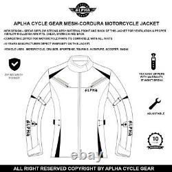Alpha Womens Motorcycle Jacket Biker Ce Armor Riding Racing Ladies All Season