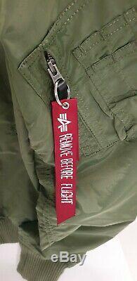 Alpha industries MA1 -TT bomber jacket size Medium BNWT rrp £135