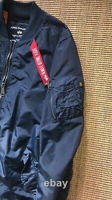 Alpha industries ma1 flight/bomber jacket navy in great condition (size medium)