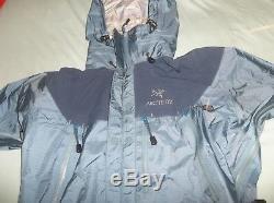 Arc'teryx Alpha Beta AR Jacket Coat Blue Steele VINTAGE Nice XCR Canada Made Med
