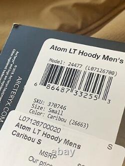 Arc'teryx Atom LT Insulated Hoody Hoodie Caribou Alpha Beta Palace Beams Leaf S