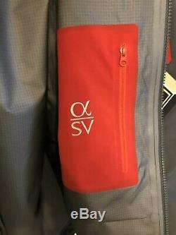 Arc'teryx Mens Alpha SV Jacket Pilot Gore Tex Waterproof Mens Medium MSRP $749