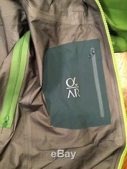 Arcteryx Alpha AR GREEN GoreTex Pro Jacket Men's MEDIUM
