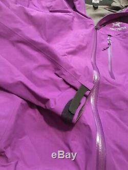 Arcteryx Alpha FL Gore-Tex Pro Jacket Womens Medium Purple- Slightly Used