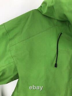Arcteryx Alpha FL Jacket Gore-Tex Full Zip Hooded Shell Mens Medium Green Used