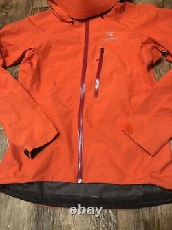 Arcteryx Alpha SL Womens Rain Waterproof Jacket Mango Tango Medium EUC Goretex