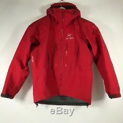 Arcteryx Alpha SV Gore-Tex Pro Shell Hooded Jacket Candy Apple Red Mens M Medium
