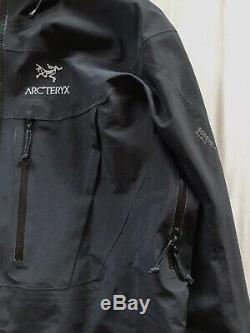 Arcteryx Alpha SV Gore-Tex Pro Shell Jacket Black Medium Climbing Ski Walking