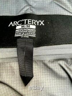 Arcteryx Alpha SV Jacket Black GTX Pro Shell Recco Medium $799 Made Canada NEW
