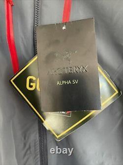 Arcteryx Alpha SV Jacket Gore-Tex PRO Medium (Grey/Red). NEW