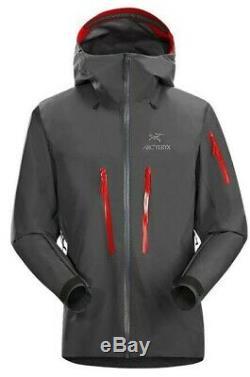 Arcteryx Alpha SV Jacket (Left Hand Zipper Blem), Medium, BNWT, Gray/Red (Pilot)