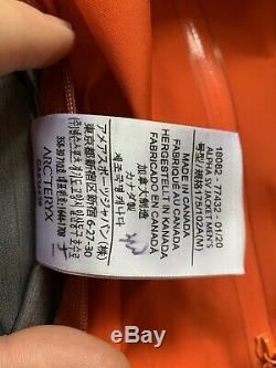 Arcteryx Alpha SV Jacket Mens Medium BNWT, Trail Blaze Color, 2020 Edition