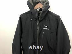 Arcteryx Mens Alpha SL Black Full Zip Shell Jacket Size Medium