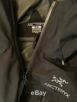 Arcteryx Mens Alpha SL Hard Shell Rain Jacket Black Medium