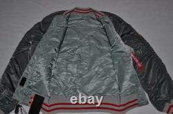 Authentic Alpha Industries Mens Ma-1 Souvenir Double Dragon Jacket L Large New