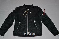 Authentic Alpha Industries Mens Machina Biker Flight Jacket Black All Sizes New