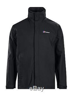 Berghaus Men's RG Alpha Waterproof Jacket Outdoor Hooded Coat Black, Medium