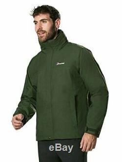 Berghaus Mens RG Alpha 3-in-1 Waterproof Jacket with Fleece, Duffel Bag, Medium