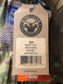 Beyond Clothing A3 ALPHA LOCHI Reversible JACKET BLK/MC MEDIUM Devgru
