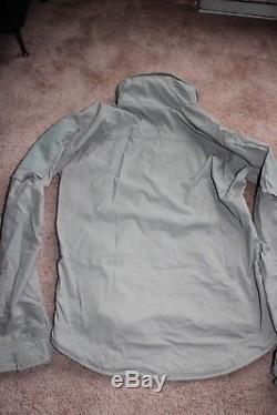 Beyond Clothing PCU Level 5 Glacier Jacket Alpha Green Mas Grey Medium