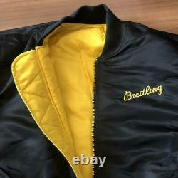 Breitling Alpha MA-1 Flight Bomber Jacket Black Size M from Japan Free Shipping