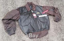 Breitling FLYING PILOT LEATHER jacket MEDIUM NEW ALPHA INDUSTRIES brown TAGS M