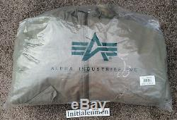 Breitling HOODED PILOT jacket MEDIUM vintage ALPHA INDUSTRIES M NEW WITH TAGS