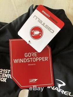 Castelli Alpha Ros Jacket Mens Team Sky Issue Thomas Froome Tour MEDIUM