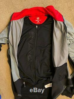 Castelli Men's Alpha Cycling Jacket Size Medium Grey/Blue
