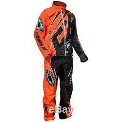 Castle X Alpha Black/Orange R18 Race Jacket (Mens M / Medium) 73-8854