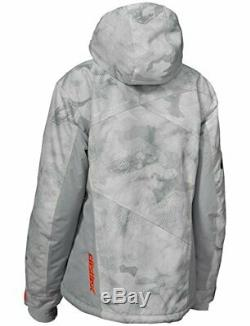 Castle X Powder Women's Snowmobile Jacket Alpha Gray/Orange Medium