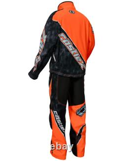 Castle X R18 Snowmobile Race Jacket Orange/Alpha Black