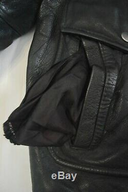 Esprit Of New Generation By Alpha Leather Jacket Vintage Cafe Racer Black Medium