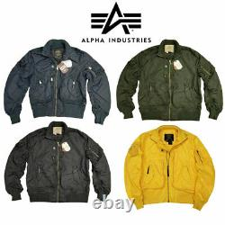Flight Jacket MA1 Light Military US Pilot Air Force Prop Alpha Industries Bomber